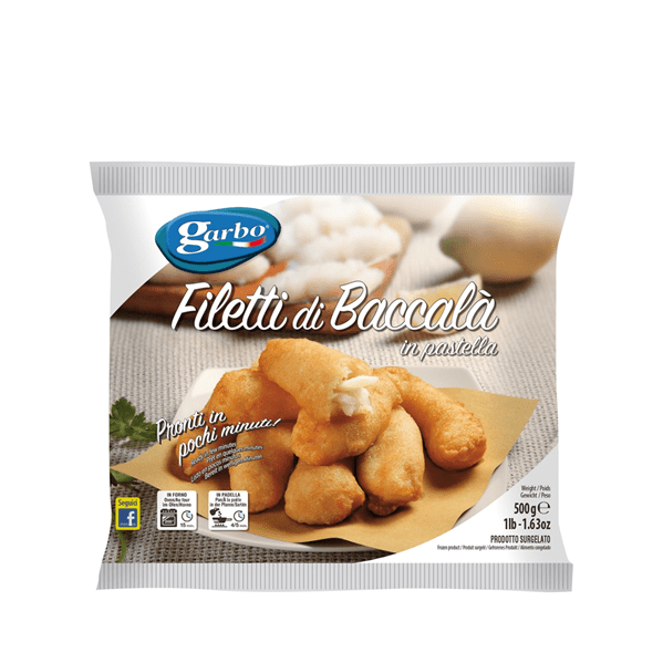 Filetti di baccalà in pastella 500g Garbo