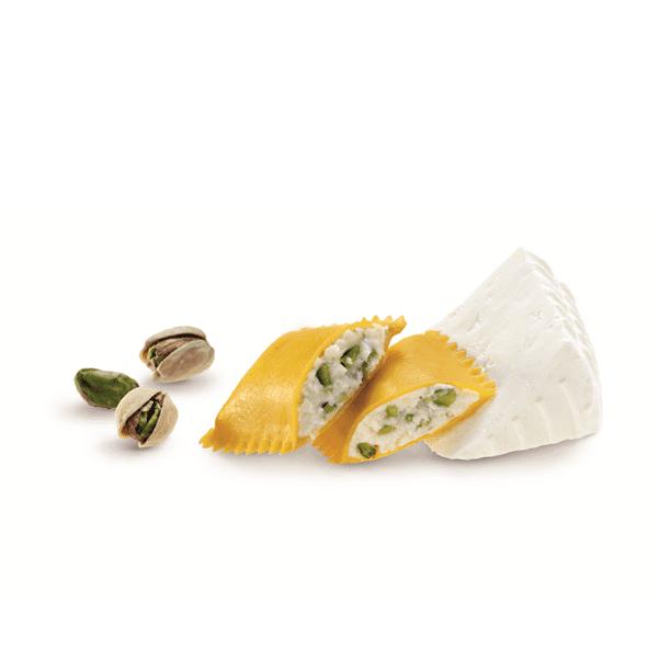 Bauletti con ricotta di pecora e pistacchi di Sicilia - Surgital