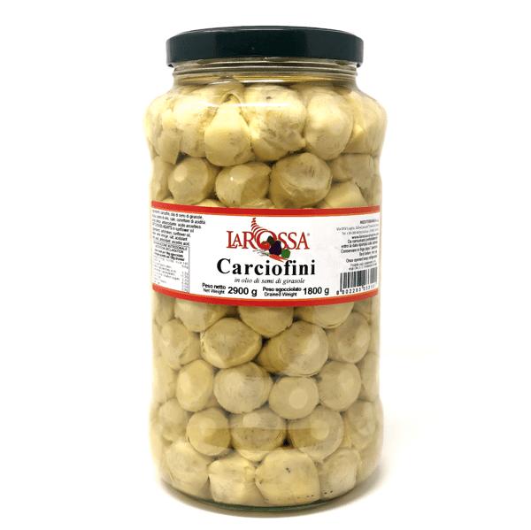 Carciofini interi sott'olio 2,9 kg - La Rossa