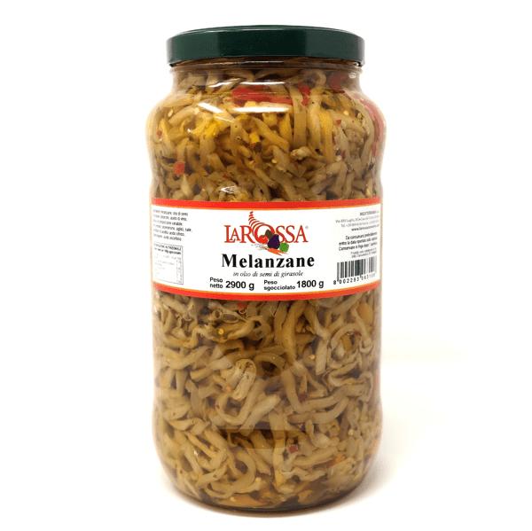 Melanzane a filetti sott'olio 2,9 kg - La Rossa