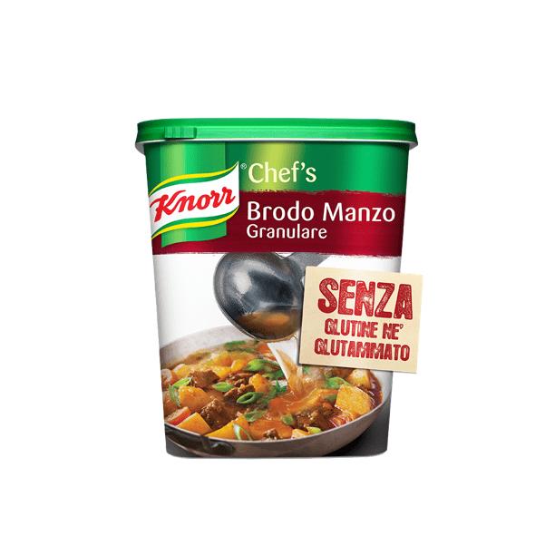 Brodo di manzo granulare senza glutine 1 kg - Knorr
