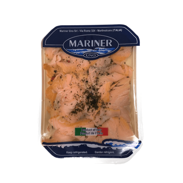 Carpaccio di salmone affum. marinato 1 kg - Mariner Uno