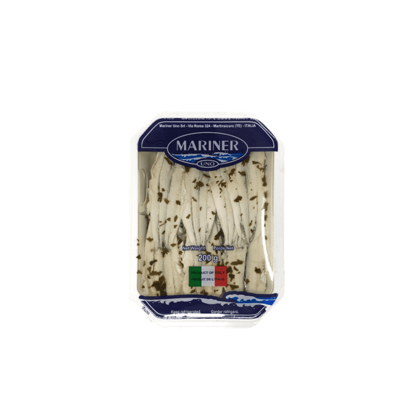 Filetti di alici marinate 200g - Mariner Uno