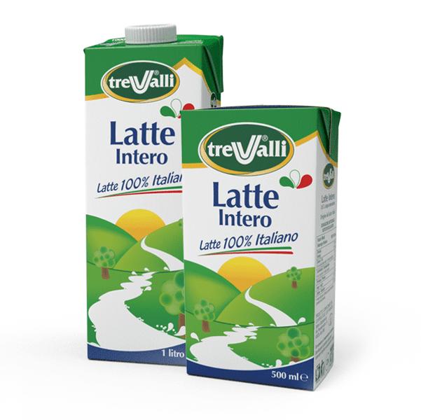 Latte intero UHT l.c. 1 lt - Tre Valli