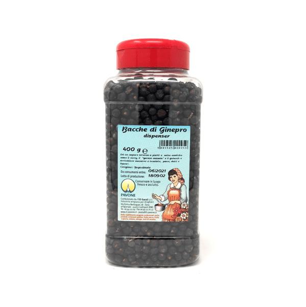 Bacche di ginepro dispenser 400g - Pavone