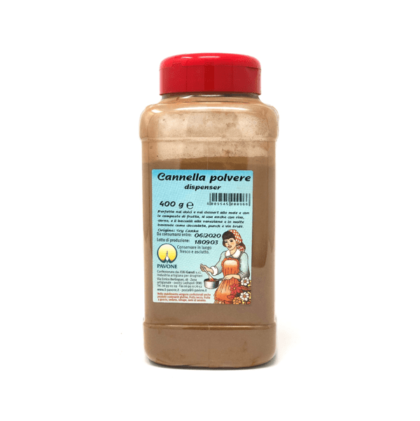 Cannella in polvere dispenser 400g - Pavone