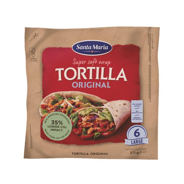 Tortillas Original Large 6pz - Santa Maria