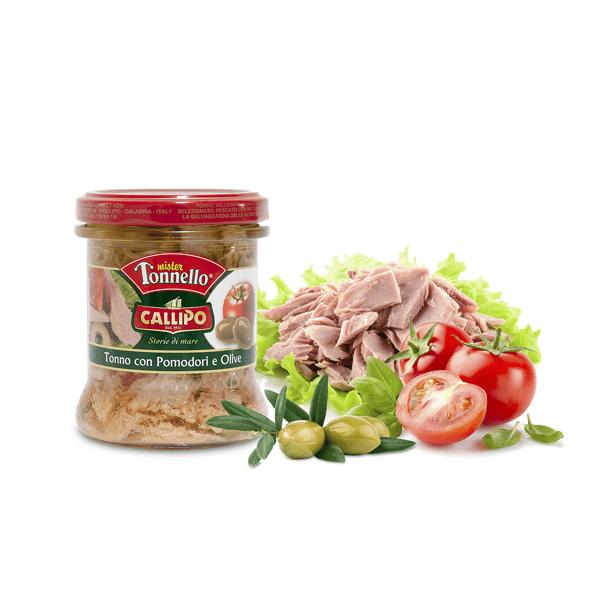 Trancetti di Tonno con pomodori e olive 170g - Callipo