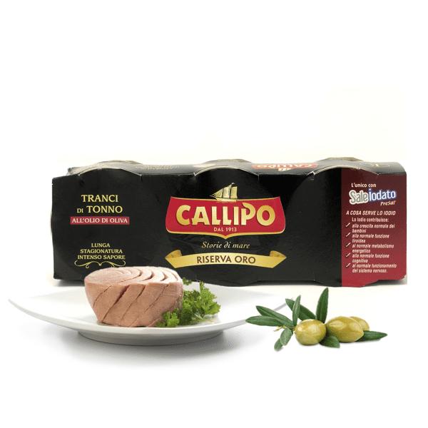 Tonno all'olio d'oliva riserva oro 3pz x 80g - Callipo
