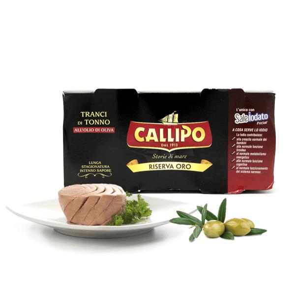 Tonno all'olio d'oliva riserva oro 2pz x 160g - Callipo